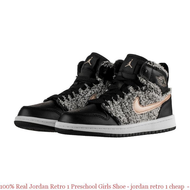 new product 81aee d9a5c 100% Real Jordan Retro 1 Preschool Girls ...