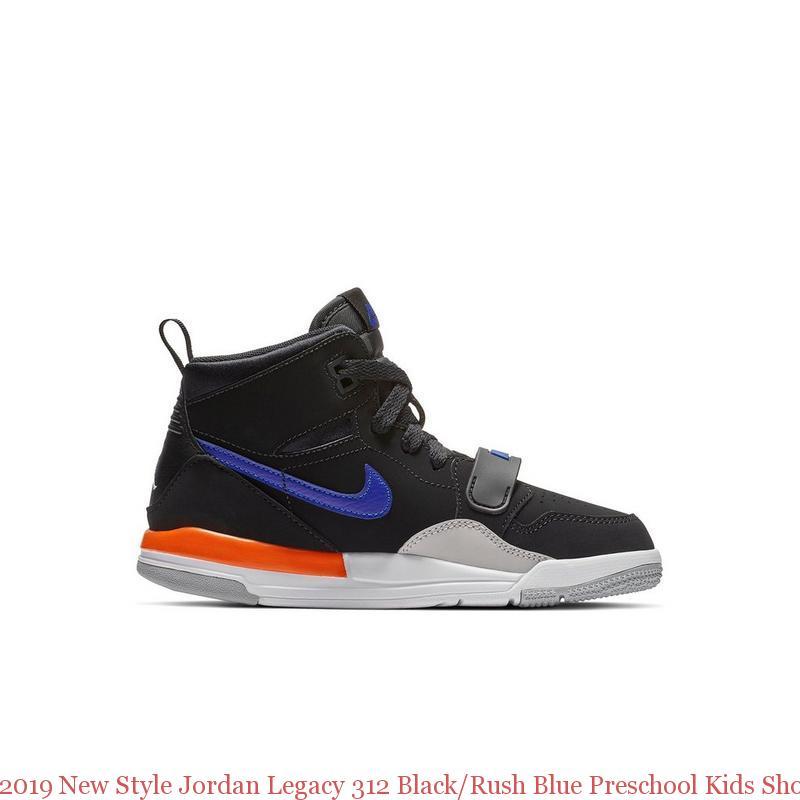 timeless design 68439 22754 2019 New Style Jordan Legacy 312 Black/Rush Blue Preschool Kids Shoe - air  max shoes 2018 - R0392