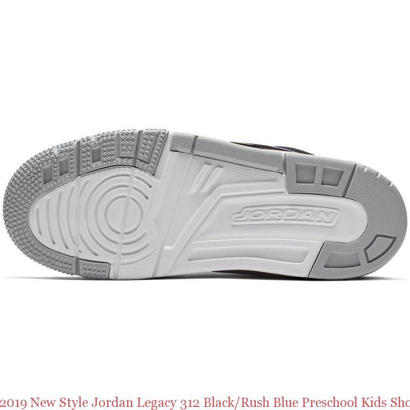 innovative design 904dd a3834 2019 New Style Jordan Legacy 312 Black Rush Blue Preschool Kids Shoe ...