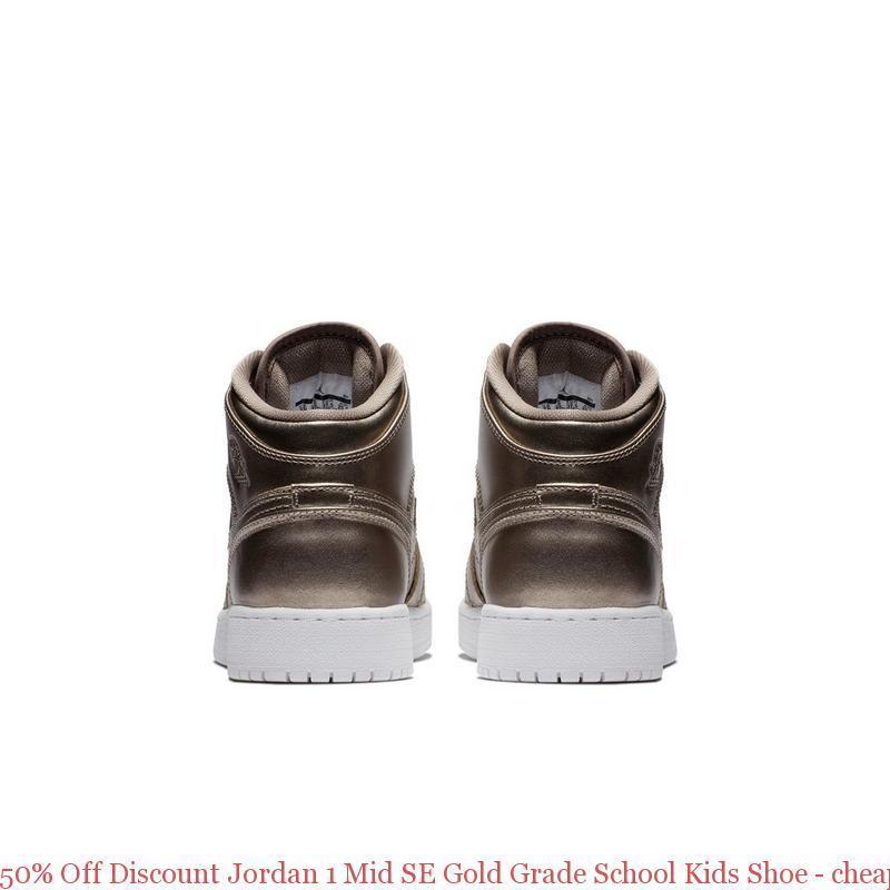 803f7fec55 50% Off Discount Jordan 1 Mid SE Gold Grade School Kids Shoe – cheap ...