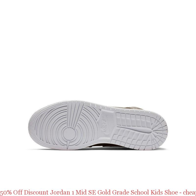 80141c8a6053a6 50% Off Discount Jordan 1 Mid SE Gold Grade School Kids Shoe – cheap ...