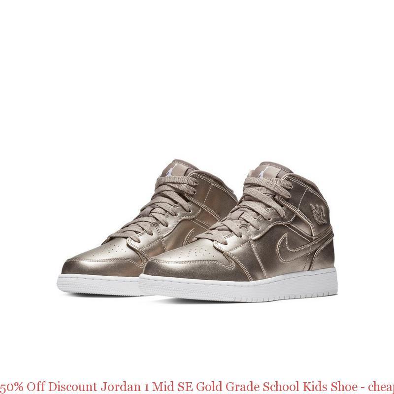 best service 2b365 61567 50% Off Discount Jordan 1 Mid SE Gold Grade School Kids Shoe - cheap used  yeezys - S0389
