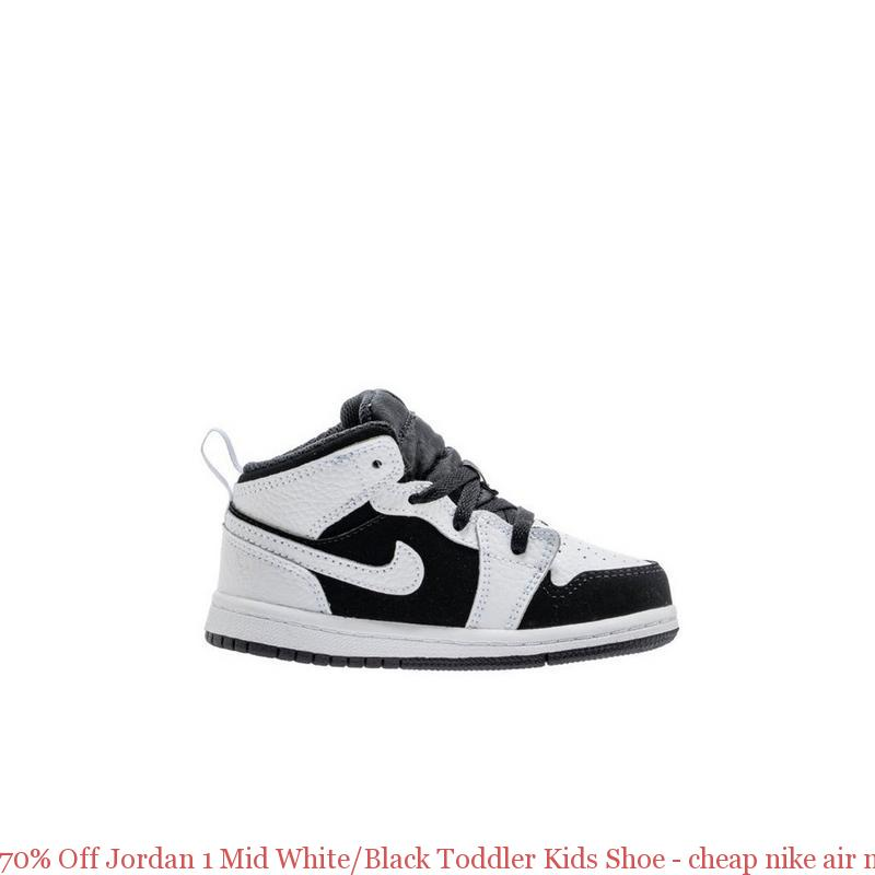 80985be62 70% Off Jordan 1 Mid White Black Toddler Kids Shoe – cheap nike air max  shoes ...