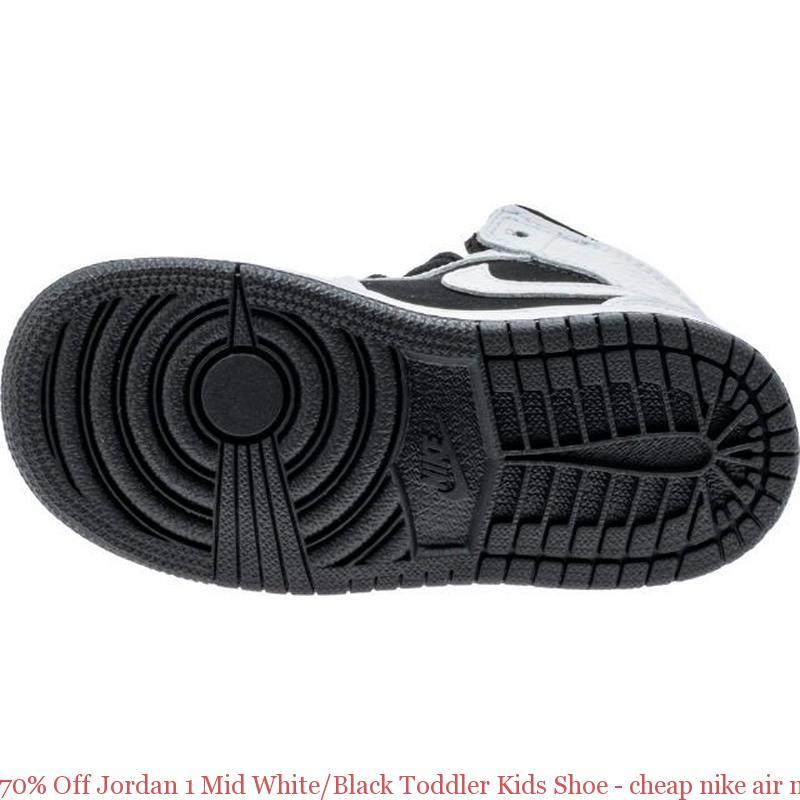 designer fashion 49f2b 68c64 70% Off Jordan 1 Mid White/Black Toddler Kids Shoe - cheap nike air max  shoes china - R0377