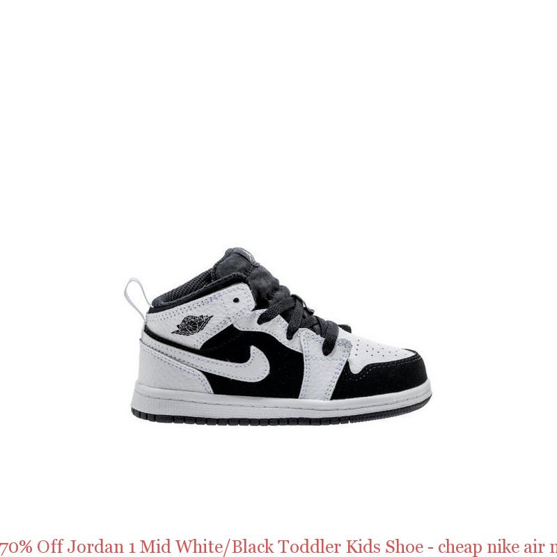 c9970044dd965 70% Off Jordan 1 Mid White/Black Toddler Kids Shoe – cheap nike air max  shoes ...