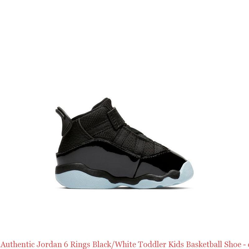 Authentic Jordan 6 Rings Black White Toddler Kids Basketball Shoe – cheap  ... 3891a2314