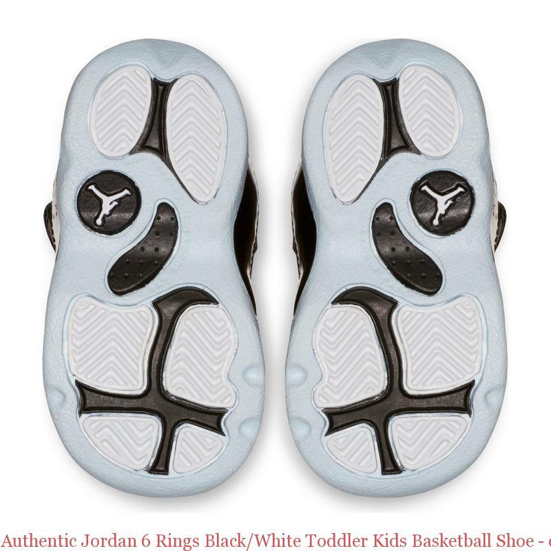 dc87219e9eb5 Authentic Jordan 6 Rings Black White Toddler Kids Basketball Shoe ...