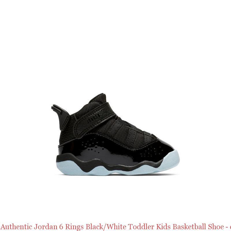 75bc08a42663d8 Authentic Jordan 6 Rings Black White Toddler Kids Basketball Shoe ...