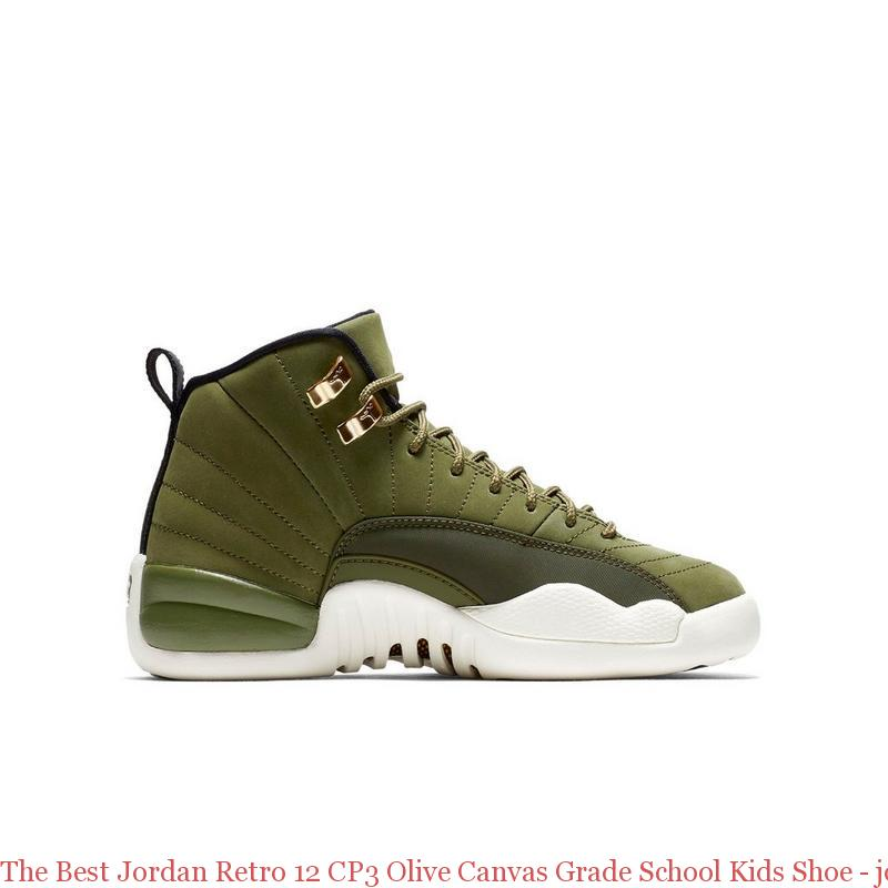 ca905dc39ca The Best Jordan Retro 12 CP3 Olive Canvas Grade School Kids Shoe ...