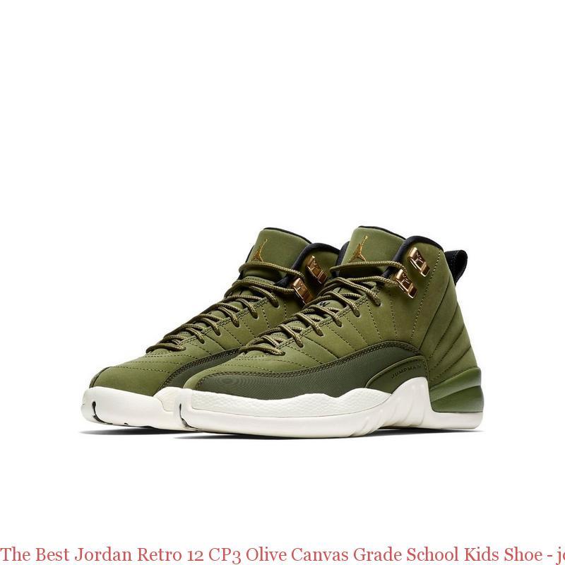 online retailer 2aa46 1e6a7 The Best Jordan Retro 12 CP3 Olive Canvas Grade School Kids Shoe - jordans  cheap price - R0255