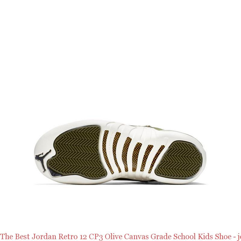 online retailer 7798b f0080 The Best Jordan Retro 12 CP3 Olive Canvas Grade School Kids Shoe - jordans  cheap price - R0255