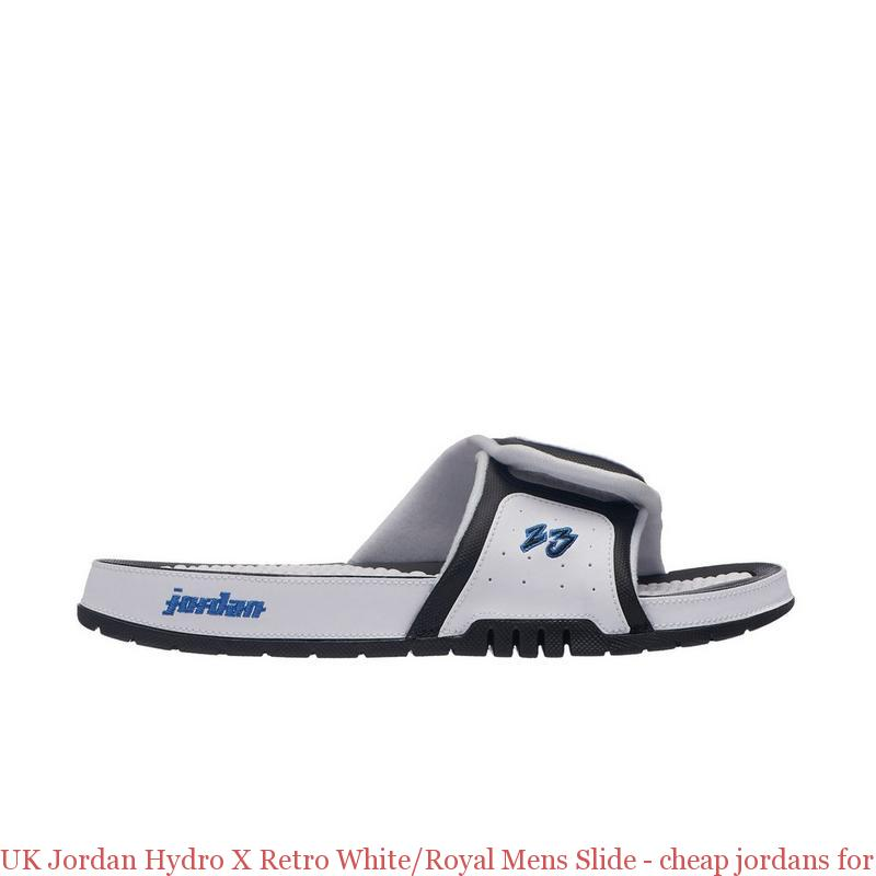 b29b52be7c9c92 UK Jordan Hydro X Retro White Royal Mens Slide – cheap jordans for ...